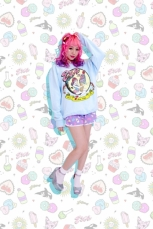 Eva x Galaxxxy Sweater ★ Blue (LARGE)