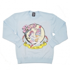 Eva x Galaxxxy Sweater ★ Blue (X LARGE)