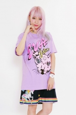 Eva x Galaxxxy ★ Cat T-Shirt Purple
