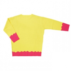 Galaxxxy | Gala-Chan Knitted Sweater ★ Yellow & Hot Pink