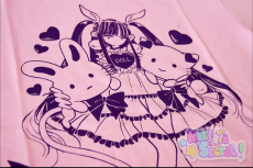 Galaxxxy x RinRin Doll T-Shirt ★ Light Pink