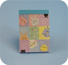 KAMIO | Love Friends ★ Blue Mini Note Pad