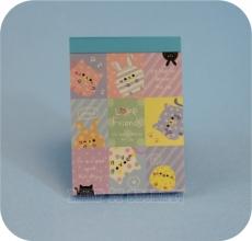 KAMIO | Love Friends ★ Blue Mini Note Pad
