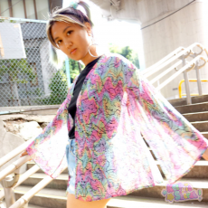 Retro Monster All-over print Chiffon Gown ★ NUEZZZ