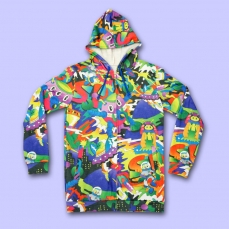 Battle Night All-over print Hoodie ★ NUEZZZ