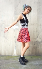 Madoromi Pattern All-over Print Suspender Skirt ★ NUEZZZ