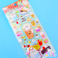 3D Bear Latte Stickers ★ KAMIO