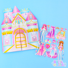 Pop-out Castle Stickers Play Set ★ KAMIO